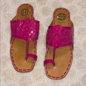 Vintage Tory Burch Patent Leather Sandals